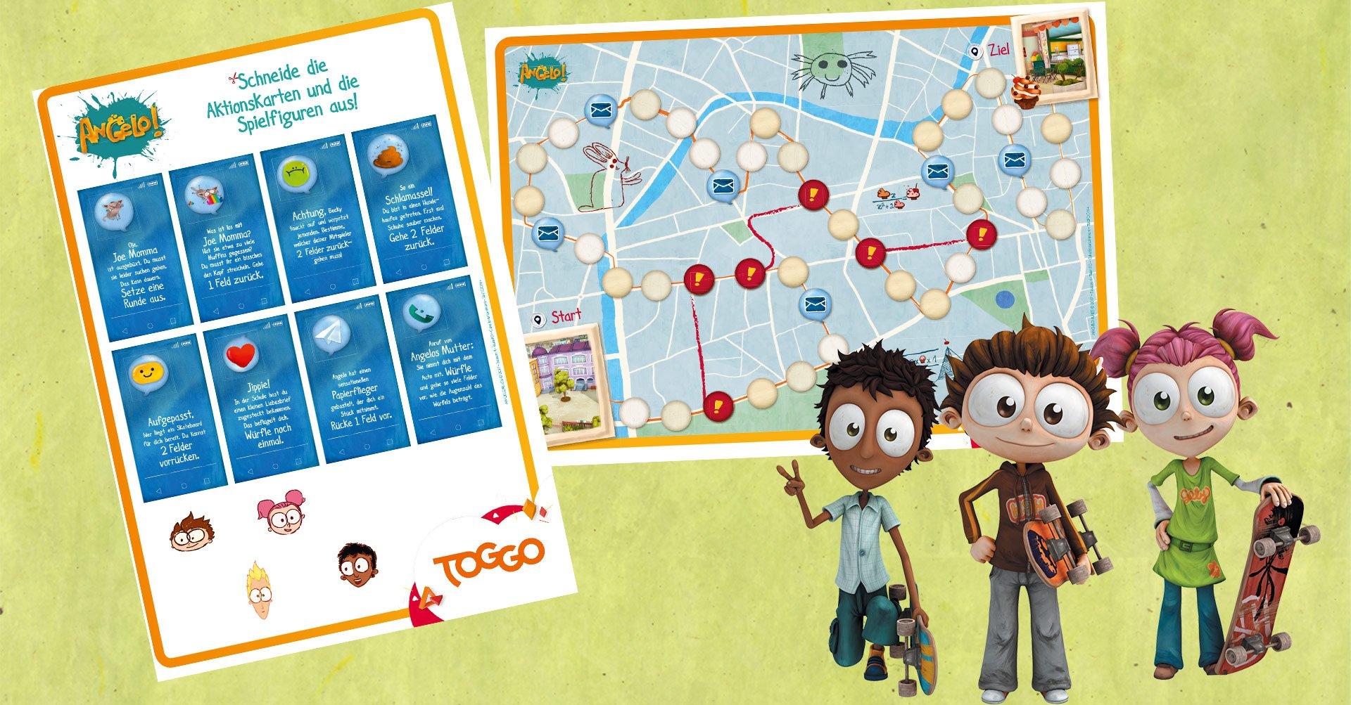 Wettrennen mit Angelo: Spiel zum Ausdrucken   TOGGO Eltern